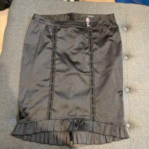 Lip Service Blacklist satin pin up pencil skirt